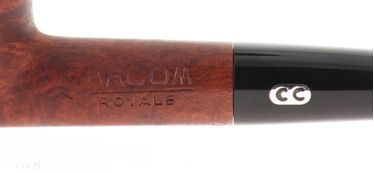 Pipe Chacom ROYALE 228c brown shape prince semicurved Years 50s   Chacom Pipes