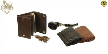 Lubinski - Tobacco Pouch Nappa with Buttons- Light Brown | Tobacco Pouches