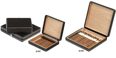 Lubinski - Travel Humidor - Leatherette- Contains up to 16-24 Cigars | Cigar Humidors Foreign Manufactoring