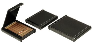 Lubinski -Travel Humidor Big- Leatherette - Contains up to 6-8 Cigars or 10 Toscani | Cigar Humidors Foreign Manufactoring
