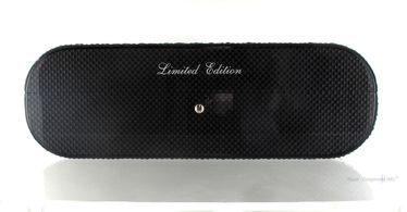 Gentili Pesaro - Humidor - Carbon fiber and Ostrich Leather for 20 Cigars   Cigar Humidors Made in Italy