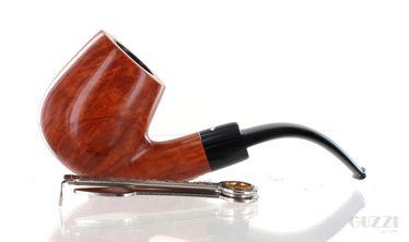 Pipe Caminetto 2.L.06 clear smooth shape bent billiarfd 9mm vintage 90s | Caminetto Pipes