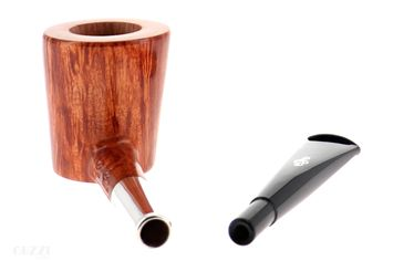 Pipe DON CARLOS 2 NOTE ♫ clear smooth shape canted poker with silver ring | Don Carlos Pipes