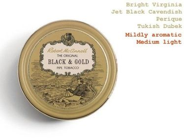 Pipe Tobacco - Robert McConnell BLACK & GOLD - Box 50gg   Robert Mc Connell