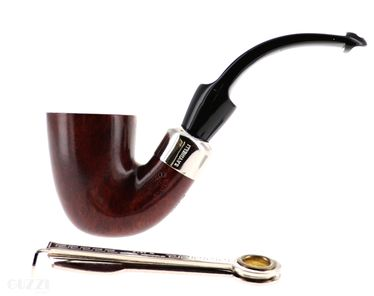 Pipe Savinelli - NEW DRY SYSTEM 621 brown smooth  shape bent dublin 9mm   New Dry System