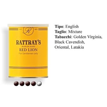 Pipe Tobacco - Rattray's RED LION - Box 100gg.   Rattray's