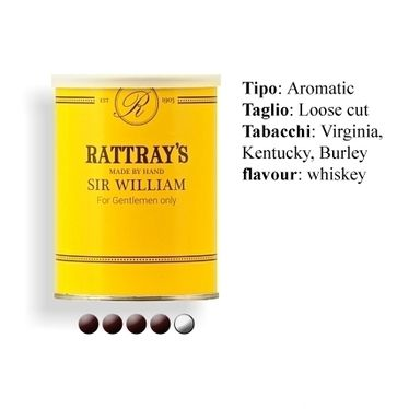 Pipe Tobacco - Rattray's SIR WILLIAM - Box 100gg. | Rattray's