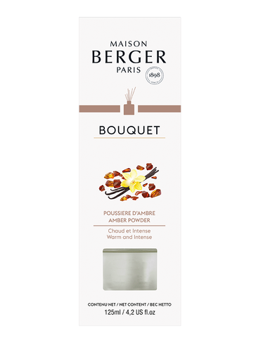 Parfum Berger - Bouquet Cube con bastoncini - Poussiere Ambre 125ml | Fragranced Bouquets and Refills