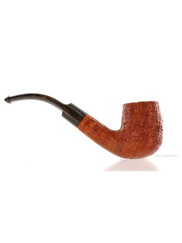 Pipe GILLI SIMONE 023 *** 3 STELLE STARS Clear Sandblasted Bent Oil Cured | Gilli Simone Pipes