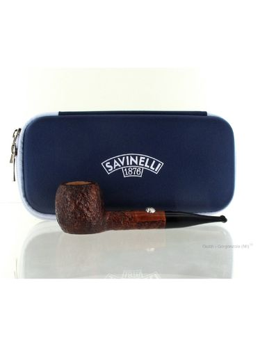 Pipe Savinelli -  FOOTBALL Rusticated Brown stand up apple | Sport Edition