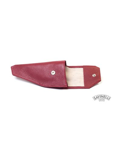 Savinelli - Leather Pipe Holster- Bordeaux | Pipe Pouches and Tobacco Cases