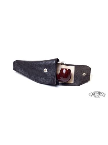 Savinelli - Leather Pipe Holster- Brown | Pipe Pouches and Tobacco Cases