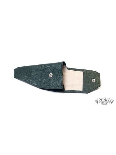 Savinelli - Leather Pipe Holster- Green   Pipe Pouches and Tobacco Cases