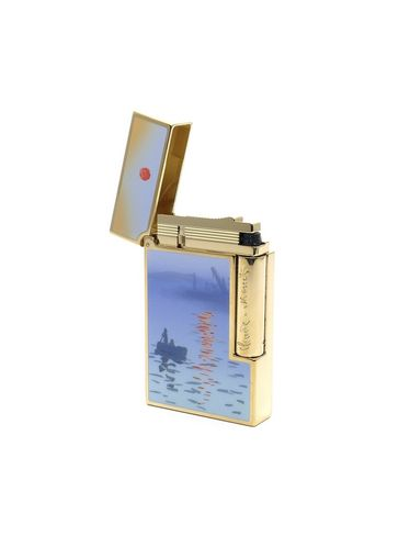 """ST Dupont - Kit Fumeur Pipe and Lighter - MONET LIMITED EDITION 2019 """"Impression Soleil Levant"""" 0017/1872 
