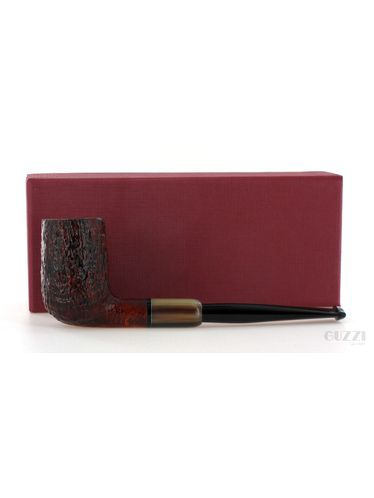 Pipa Gilli Simone *** 3 Stelle sabbiata marrone shape army billiard chimney Oil Cured | Pipe Gilli Simone