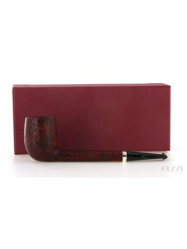 Pipe Gilli Simone *** 3 Stelle brown sandblasted shape canadian with silver ring Oil Cured   Gilli Simone Pipes