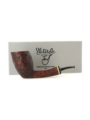 Pipe Vitale ** 2 STELLE brown sandblasted shape freehand maple tree ring | Vitale Pipes
