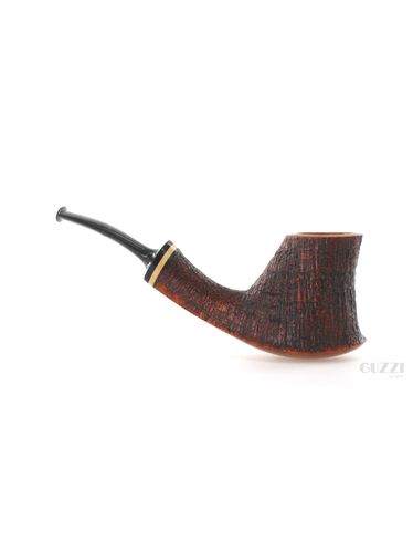 Pipe Vitale ** 2 STELLE brown sandblasted shape freehand stand up volcano | Vitale Pipes