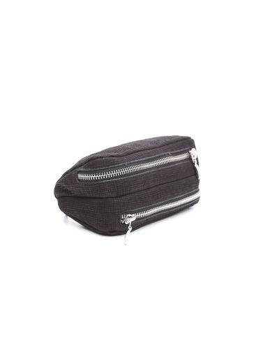 Savinelli - Leather Pouch 2 Pipe and Tobacco - Black Striped | Pipe Pouches and Tobacco Cases