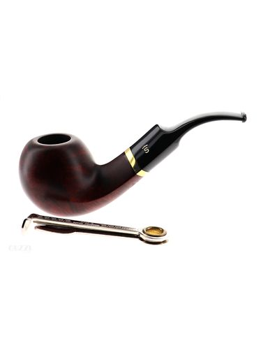 Pipa Stanwell DE LUXE BROWN POLISH 15 liscia marrone matte scura shape bent apple 9mm   Pipe Stanwell