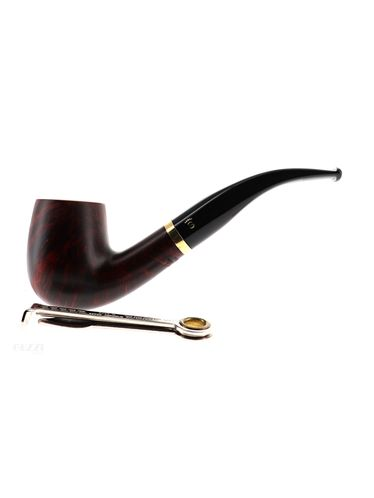 Pipe Stanwell DE LUXE BROWN POLISH 246 brown matte smooth shape bent billiard 9mm | Stanwell Pipes