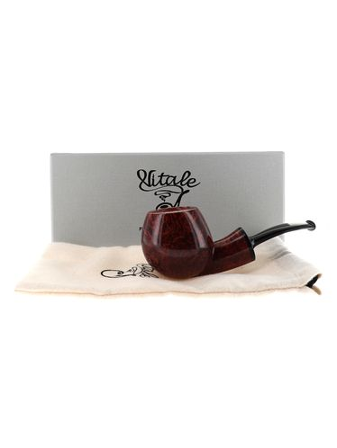Pipe Vitale ** 2 STELLE brown smooth shape apple nose warmer | Vitale Pipes