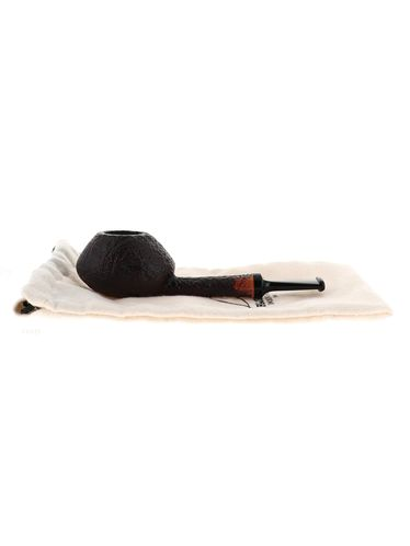 Pipe BlueBird brown sandblasted shape stand up oval tomato | Bluebird Pipes