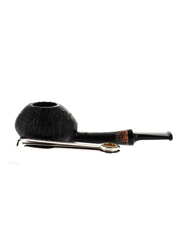 Pipe BlueBird black sandblasted shape stand up oval tomato | Bluebird Pipes