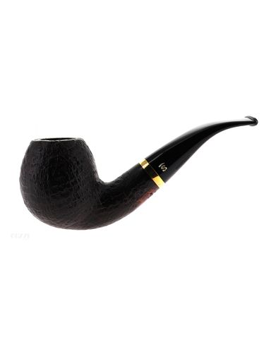 Pipe Stanwell DE LUXE SANDBLAST 185 dark sandblasted shape bent apple 9mm | Stanwell Pipes