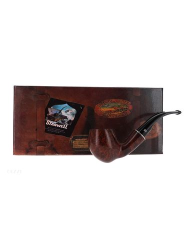 Pipe Stanwell Hans Christian Andersen brown smooth churchwarden shape pickaxe   Stanwell Pipes