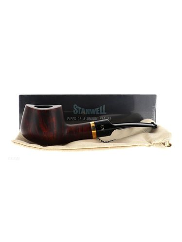 Pipe Stanwell DE LUXE BROWN POLISH 11 matte smooth shape fancy pot 9mm | Stanwell Pipes
