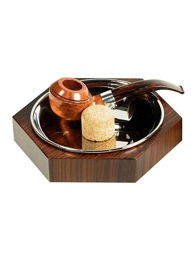 "Lubinski - Ashtray ""Esagonal""with beater- Rosewood 