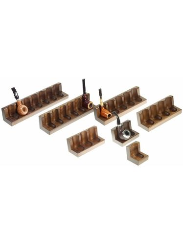 Lubinski - Pipe Stand 7 Seats -Walnut | Multiple Pipe Stands