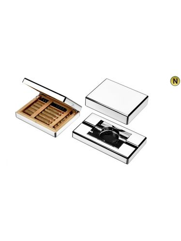 Lubinski - Humidor -White Lacquer   Cigar Humidors Foreign Manufactoring