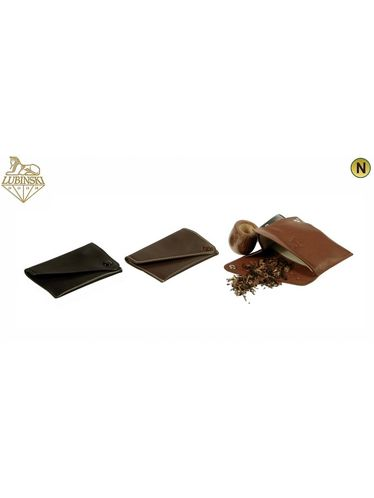 Lubinski - Tobacco Pouch NAPPA Little with button- Light Brown | Tobacco Pouches