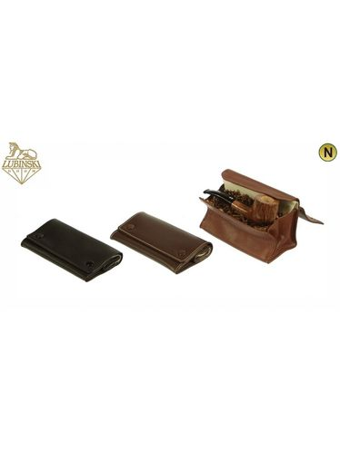Lubinski - Tobacco Pouch NAPPA  Big with buttons- Light Brown | Tobacco Pouches