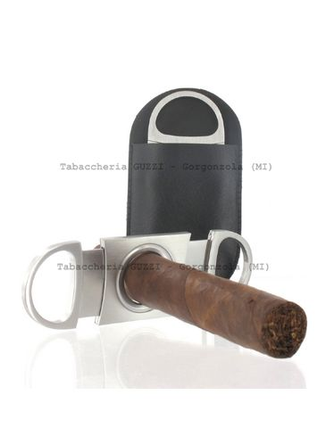 Egoist - Cigar Cutter- Double blade - Satin Metal with case | Outlet