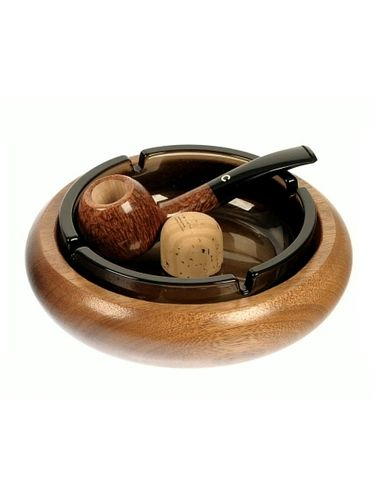 Lubinski - Ashtray Round with beater- Kalao | Pipe Ashtrays