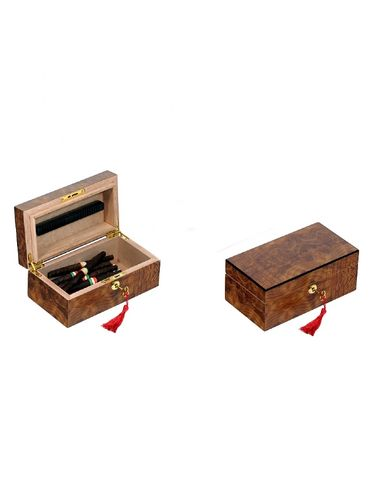 Lubinski - Humidor with key - Opaque Elm- Contains up to 20 Toscani or 20 Half Toscani | Cigar Humidors Foreign Manufactoring