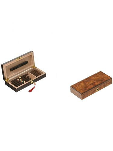 Lubinski - Humidor - Opaque Elm - Contains up to 20 Toscani or 20 Half Toscani   Cigar Humidors Foreign Manufactoring