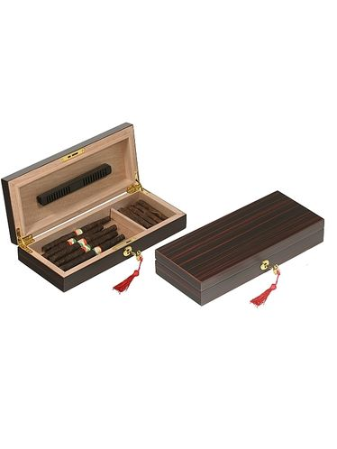 Lubinski - Humidor with key - Opaque Elm - Contains up to 20 Toscani or 20 Half Toscani | Cigar Humidors Foreign Manufactoring