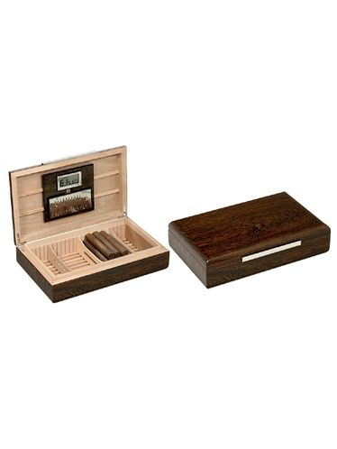 Lubinski - Humidor with compartments and digital hygrometer-  Ironwood - Contains up to 25 Cigars | Cigar Humidors Foreign Manufactoring