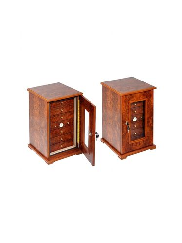 Lubinski - with 7 Drawers - Opaque Elm Wood | Display Humidors