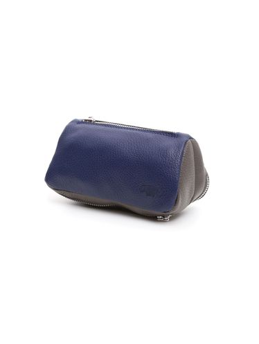 Savinelli - Leather Pouch 2 Pipe and Tobacco - Blue and Grey | Pipe Pouches and Tobacco Cases