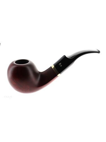 Pipe Stanwell DE LUXE BROWN POLISH 15 dark brown matte smooth shape bent apple 9mm | Stanwell Pipes