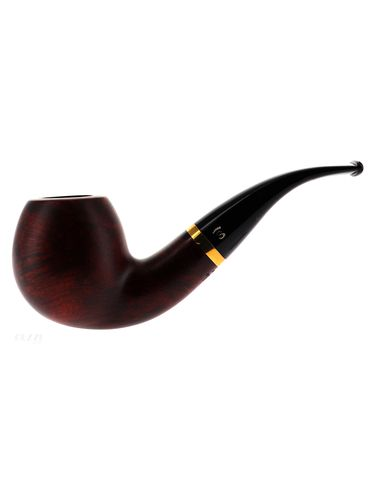 Pipe Stanwell DE LUXE BROWN POLISH 185 brown smooth shape bent apple 9mm | Stanwell Pipes