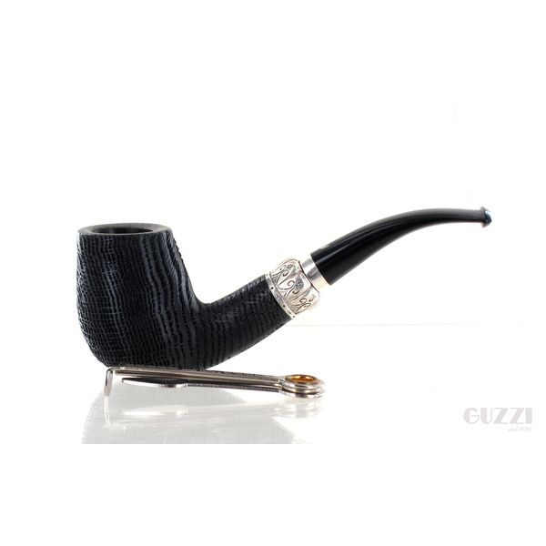 Pipa FIAMMA DI RE ♕♕♕ 3 CORONE Morta bog oak shape fraahand half bent | Pipe Fiamma di Re