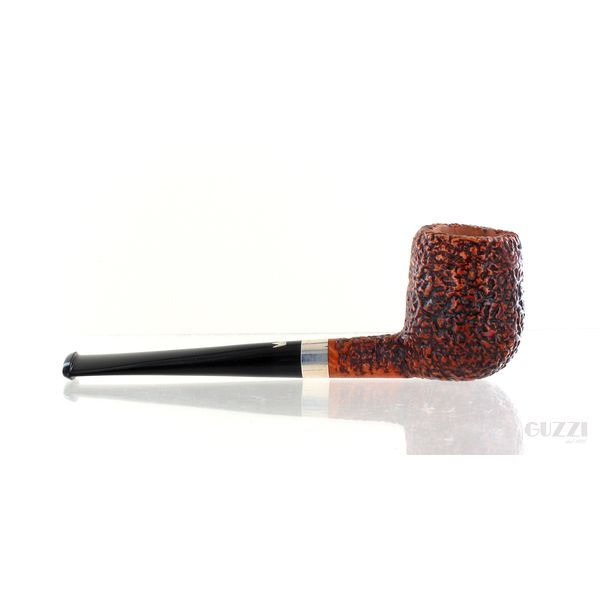 Pipa FIAMMA DI RE Erica rusticata marrone shape pencil billiard vera in argento | Pipe Fiamma di Re