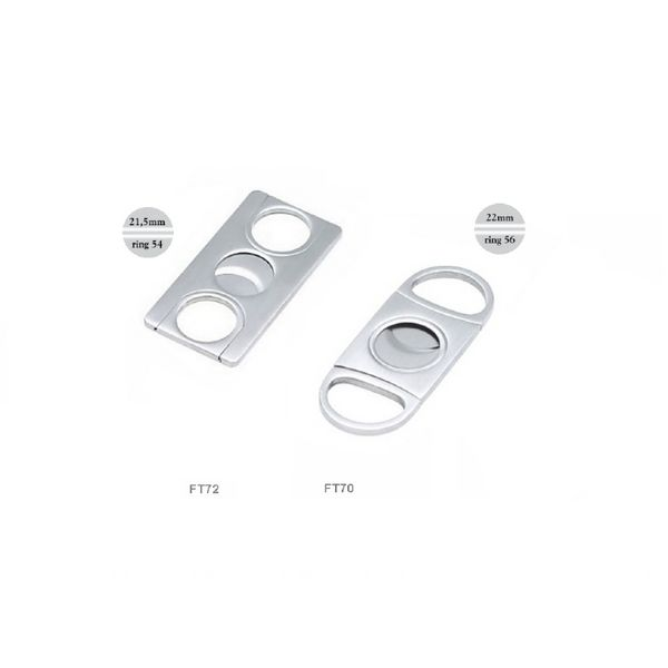 Lubinski - Cigar Cutter - Double blade SQUARE Stainless Steel | Cigar Cutters and Scissors